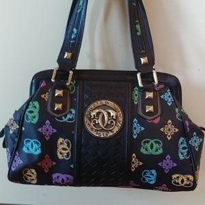 Wow! 3 piece ornate Sharif shoulder bag wallet ++